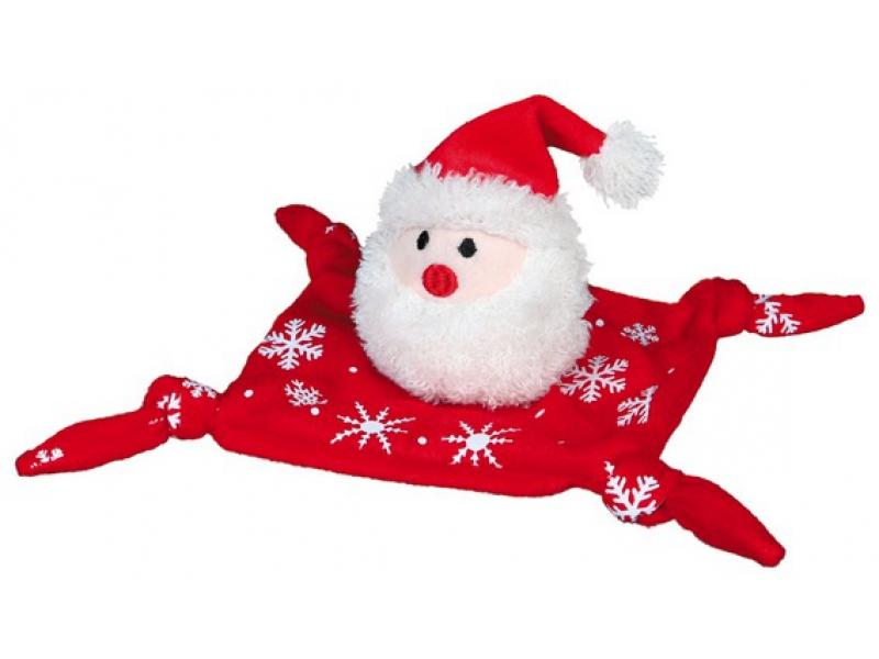 Weihnachts-Hundespielzeug Kuscheltuch mit Squeaker