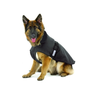 Hundemantel Outdoor 2in1, schwarz Gr. 26