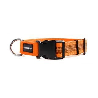 Mystique Hundehalsband gummiert 25mm breit, orange Gr. XL 55-65 cm